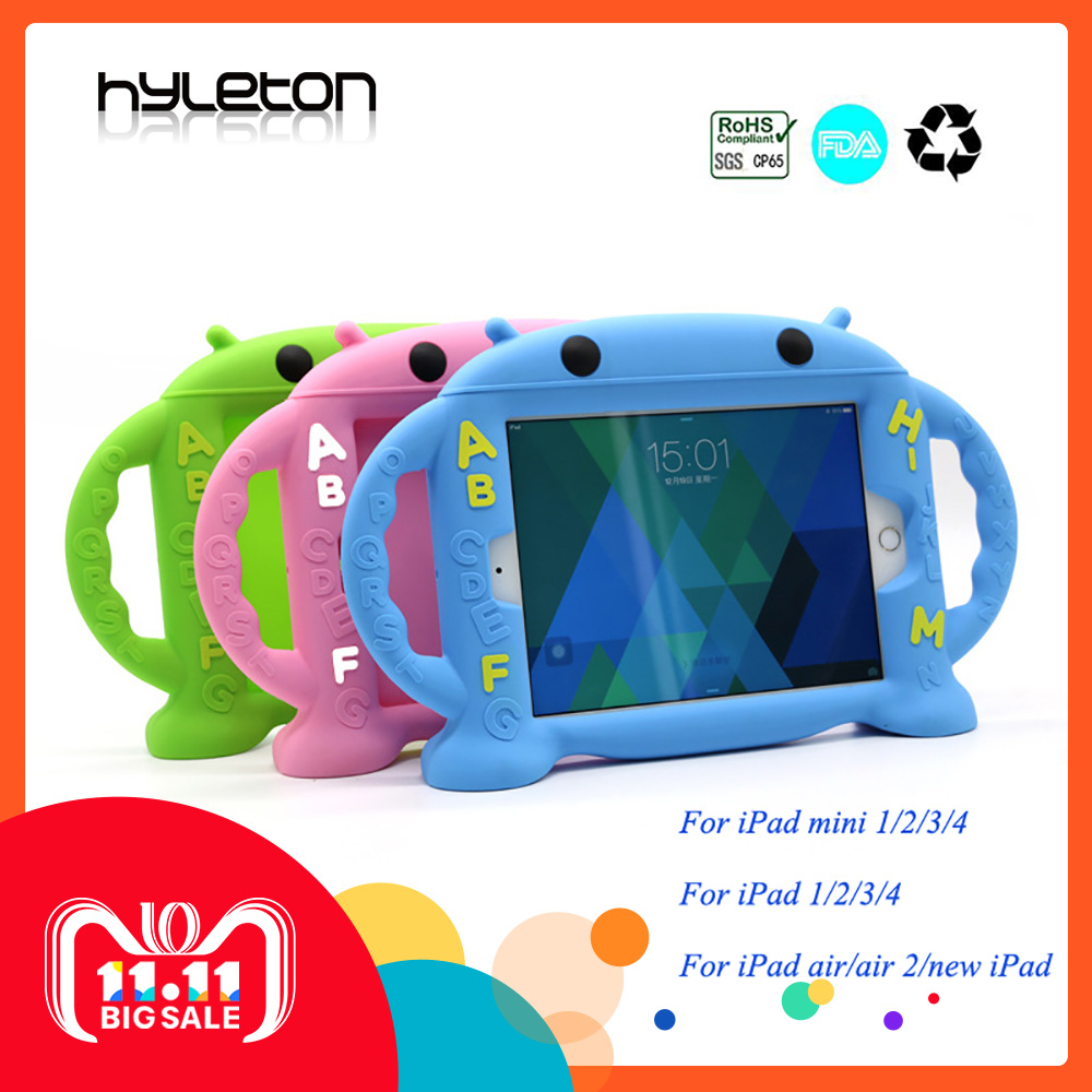 For Apple ipad 2 3 4 case 9.7inch Silicone case for ipad 1/2/3/4 Kids Protective Back Cover for ipad Waterproof with Holder