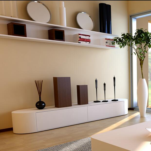 Kabinet Tv Modern Yang Minimalis Mode Kreatif Apartemen Kecil Ruang Tamu Dicat Kaca Tempered