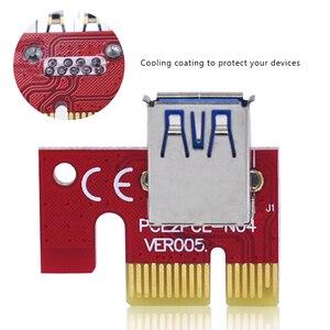 Image 3 - 10pcs TISHRIC VER007S PCI Express PCIE PCI E Riser Card 007 007S 1x to 16x Extender USB3.0 Cable 15pin SATA for BTC Mining Miner