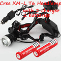 2000 Lumen CREE XM-L T6 LED Bicycle bike HeadLight Lamp Lamps Flashlight Light Headlamps+2*18650 4000 Mah Battery + 2 * Charger