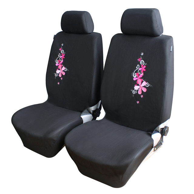 AutoCare 2016 New Flower Embroidery Car Seat Cover Universal Fit 9PCS and 4PCS Pink Car Covers Car Styling Car Seat Protector