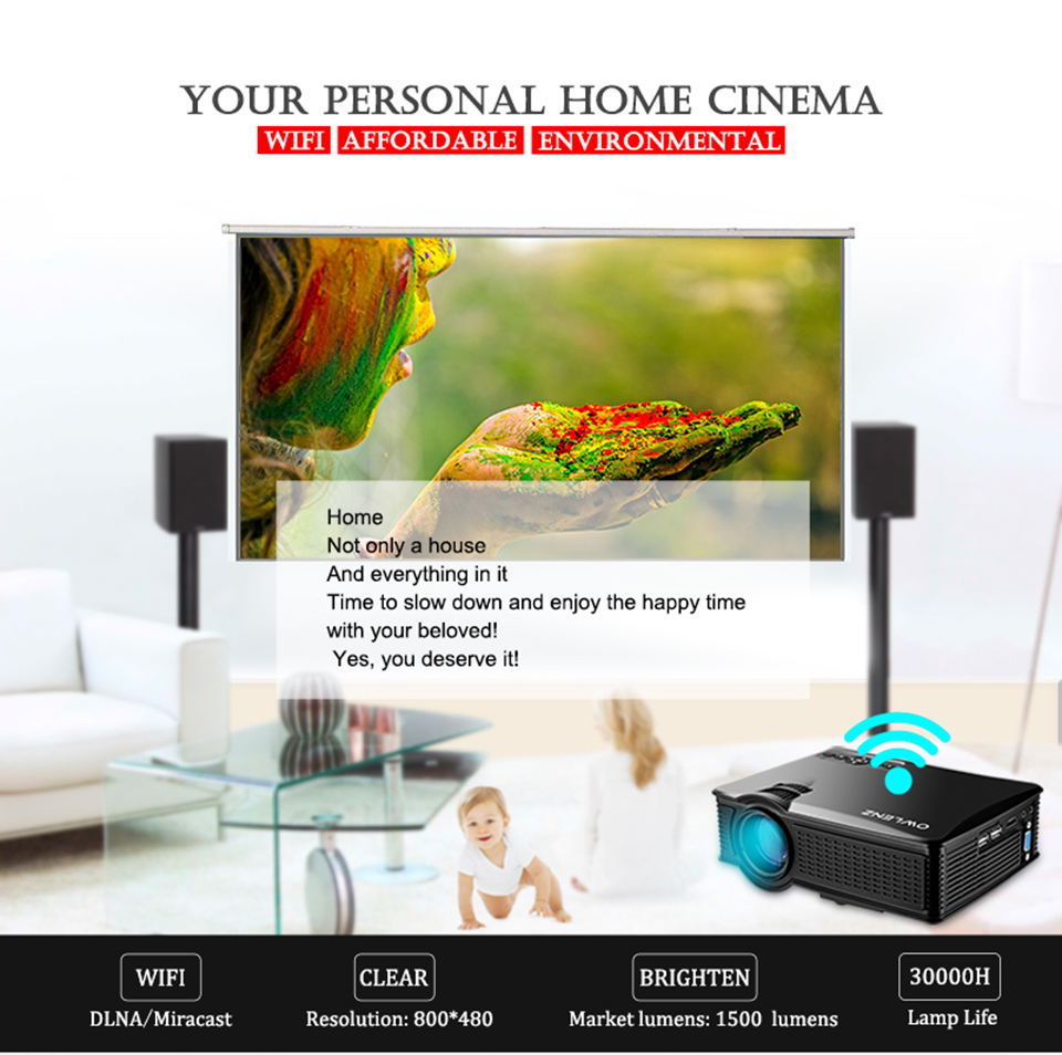 SD60 Portable LCD WIFI Projector-1