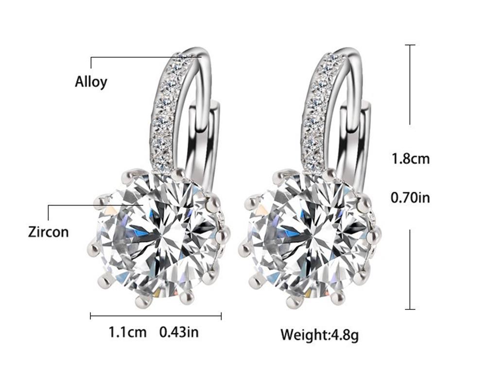 Meajoe trendovska srebrna ploča 6 boja šarm naušnica okrugla - Modni nakit - Foto 2