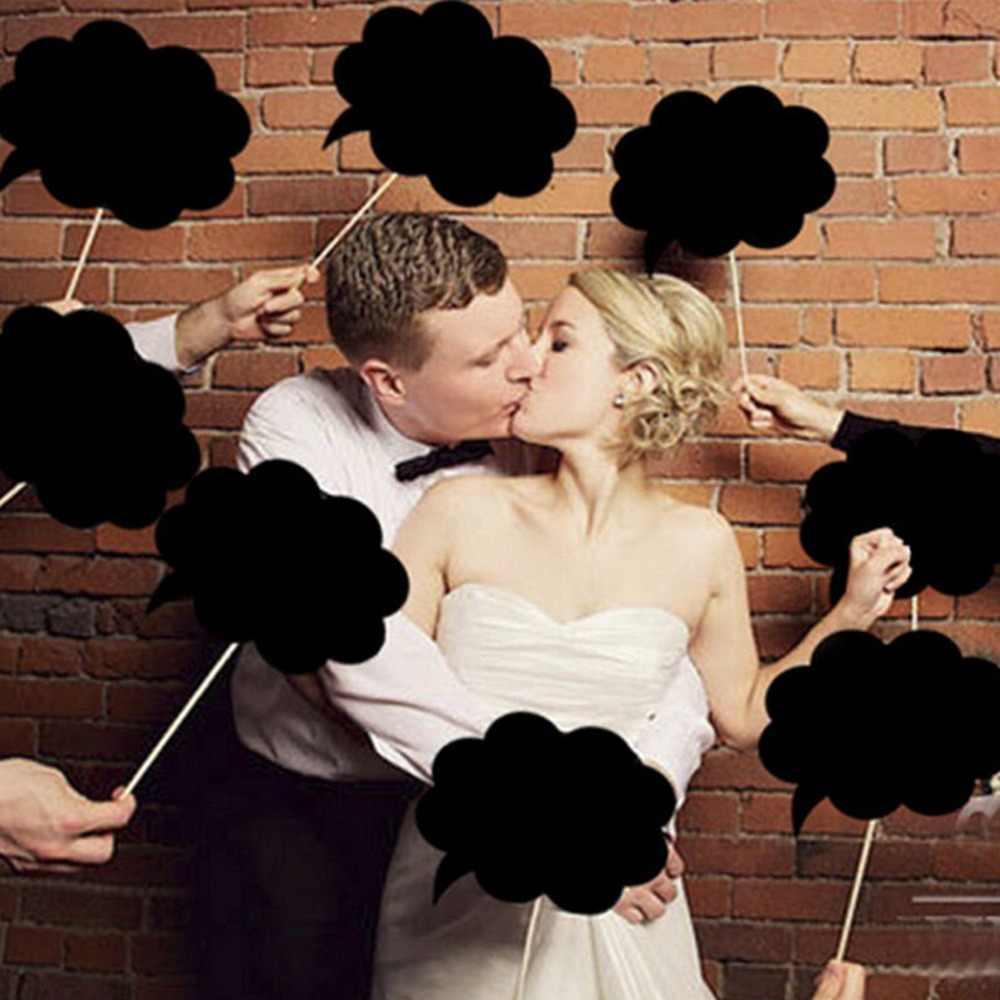 10 pcs Baru Mr Mrs Photo Booth Props Cinta DIY Pada sebuah Tongkat Fotografi Pernikahan Dekorasi Pesta untuk Fun Favor photobooth photocall