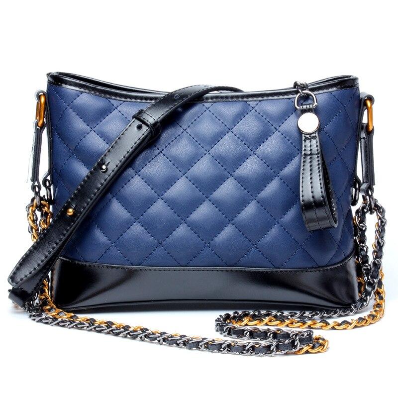 Роскошные дизайнерские сумки Мини Hobo из натуральной кожи Для женщин сумка лоскутное плед цепь сумка Кроссбоди Мешок