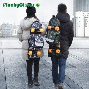 Image 1 - 迷彩スケートボードバッグアウトドアスポーツショルダーバッグダブルロッカーハンドバッグクロスボディ旅行ハイキングキャンプバックパック multifuncton