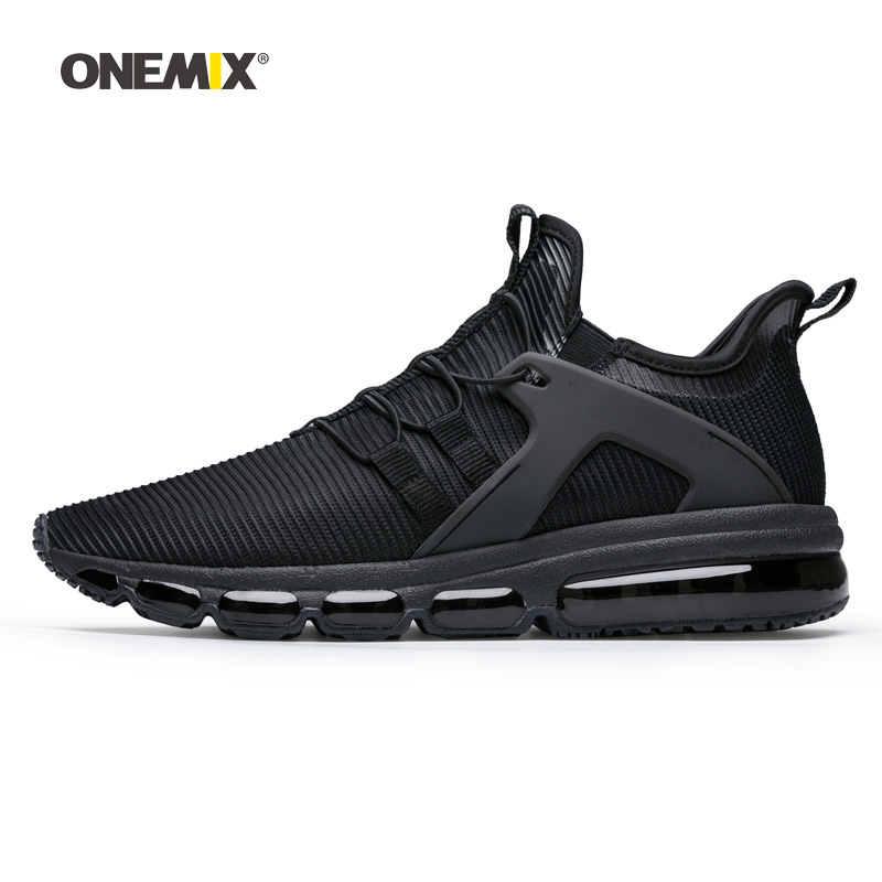 Onemix Men Running Shoes for Women Black Loafers Max Breathable Designer Jogging Sneakers Outdoor Sport Tennis Walking Trainers onemix woman running shoes for women white mesh air breathable designer jogging sneakers outdoor sport walking tennis trainers