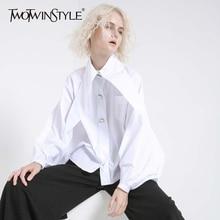 Sleeve White Button Women's