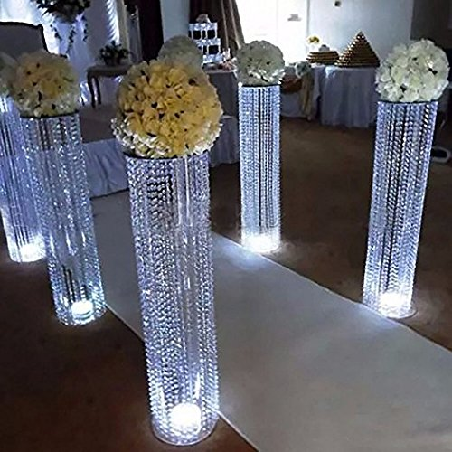 6pcs/lot New arrival 120cm tall acrylic crystal wedding road lead wedding centerpiece event party aisle walkway decoration-in Party DIY Decorations from Home & Garden    1