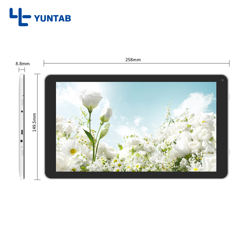 Yuntab white color 10.1inch D102 tablet PC Quad Core with dual camera, touch screen 1024*600 Bluetooth4.0 5500mAh battery yuntab 10 1 android 5 1 b102 quad core tablet pc with mini hdmi port 1280 800 ips touch screen dual camera 6000mah battery