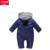 Romper Do Bebê recém-nascido Macacão De Inverno Da Marca de Manga Longa de Algodão Do Bebê Menino Macacão Com Capuz Outwear Quente Crianças Roupas de Menina Infantil