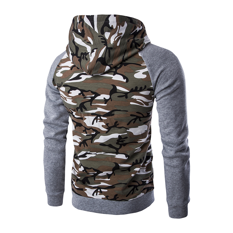 Brand Sweatshirt Men Hoodies Fashion Camouflage Hoodie MenS Zipper Cardigan Mens Tracksuits Moleton Masculino Tracksuit Men
