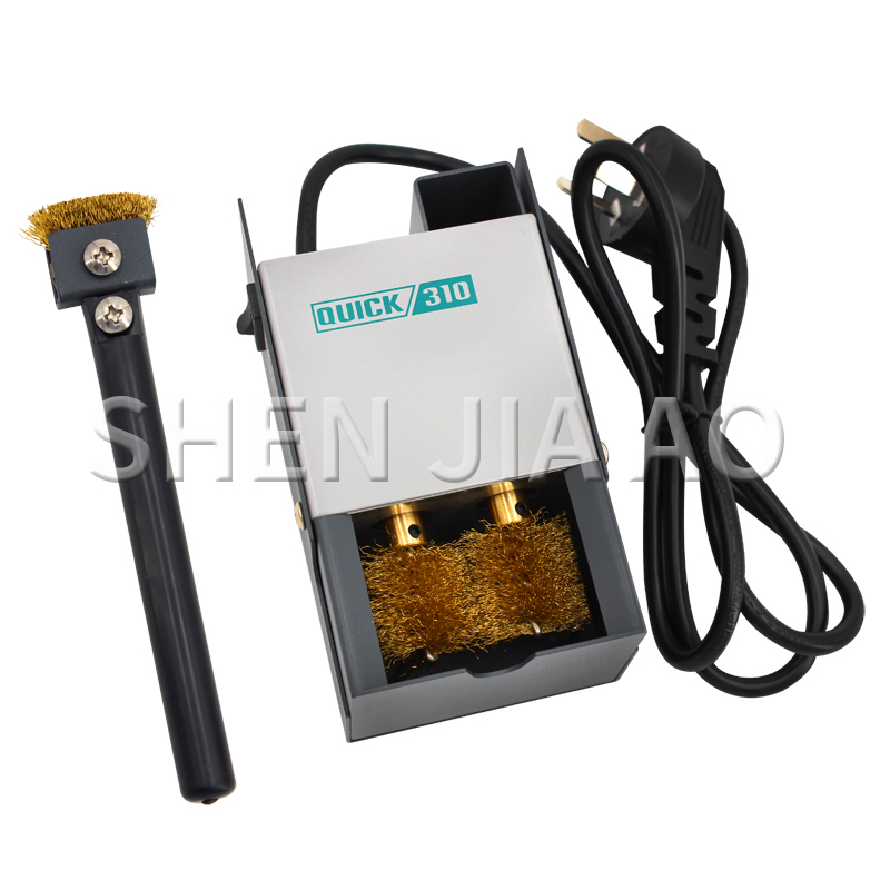 310 Soldering Iron Electric Cleaner Machine Tip Welding Tip Automatic Cleaning Brush Copper Brush Clean Machine 220V 1PC