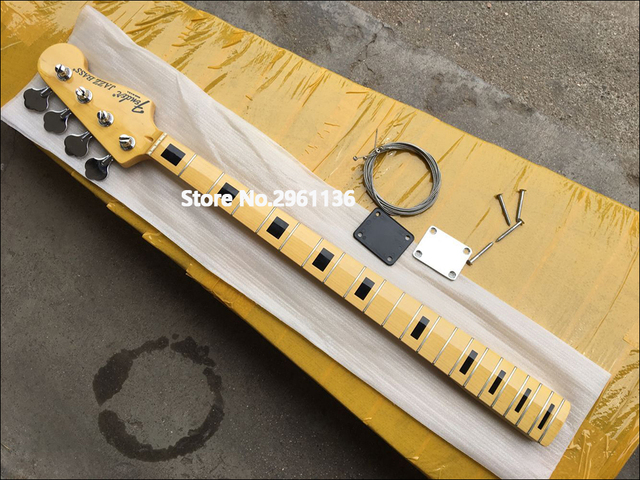 High quality, 21 Frets Reversed Headstock Maple Electric bass Guitar Neck,Wholesale musical instruments Guitar Parts accessories