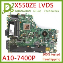 KEFU X550ZE For ASUS VM590Z X550ZE X550ZA laptop motherboard X550 X750 FX7600P FX7500 A10 7400P LVDS