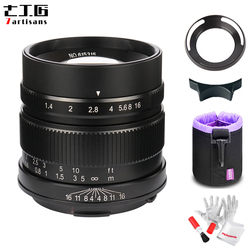 7artisans 55mm F1.4 Large Aperture Portrait Prime Manual Fixed Focus Lens APS-C for Leica T-mount Camera for Leica T TL TL2 CL