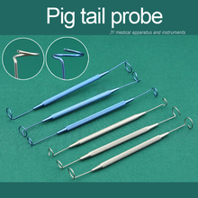 Beauty Health Makeup tools accessories  Pig tail probe microsurgery stainless steel double pig tail probe Eyelid Tools