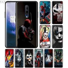 Marvel avengers Super Hero Phone Case for Oneplus 7 7Pro 6 6T Oneplus 7 Pro 6T Black Silicone Soft Case Cover
