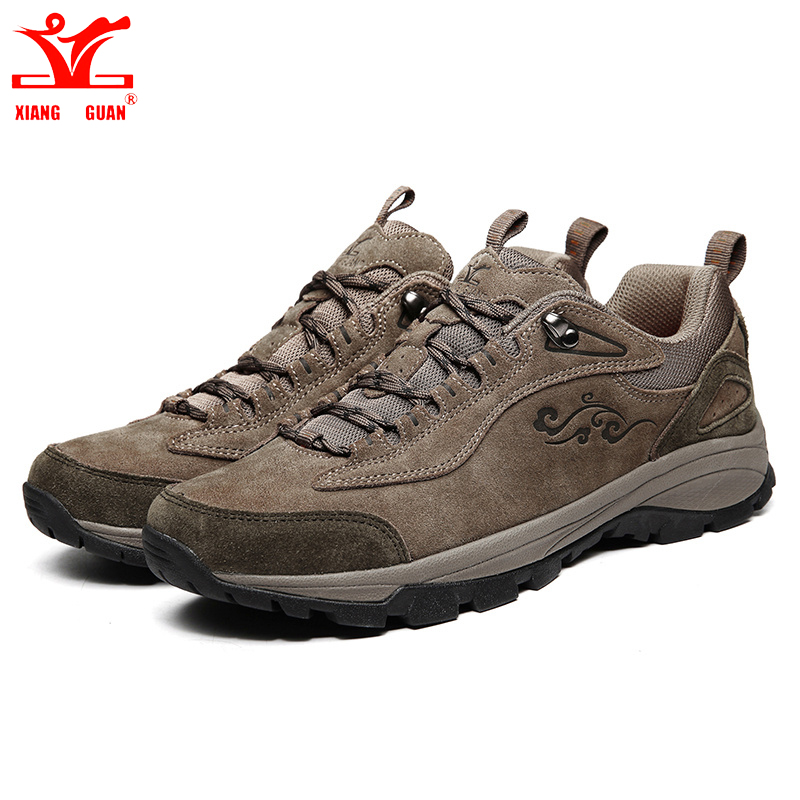Brand XIANGGUAN Lovers Hiking Shoes Men Sneakers Women Climbing Sport Shoes Athletic Breathable Travel Suede