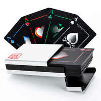 Frosted Waterproof PVC Poker Playing Cards High Quality Black Durable Poker Game Collection Board Game For Gift