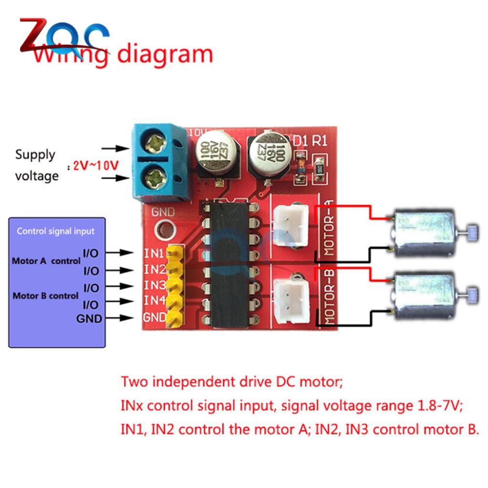 Kit 25a Dual Channel Dc Motor Driver Mini Module Beyond L298n Pwm Speed Control Circuit With Pic12f1822 Microcontroller 012122 3