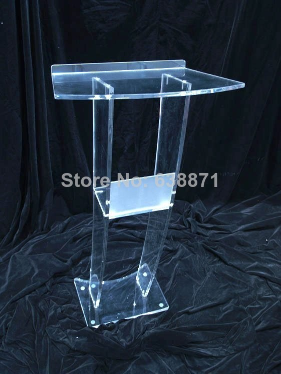 Free Shiping Hot Sale And Modern Acrylic Podium Pulpit Lectern