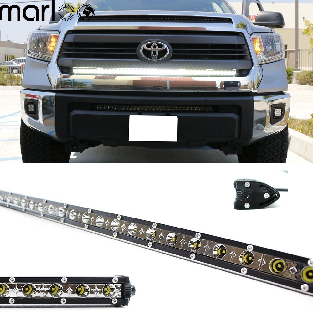 Marloo Slim 44 inch 126W LED Work Light Bar Offroad Driving Lamp For SUV 4WD ATV UTV Off road Jeep Truck Boat Car Ford GMC 72w 126w 198w car led light bar combo beam for jeep work driving boat car truck 4x4 suv atv off road fog lamp led work light bar