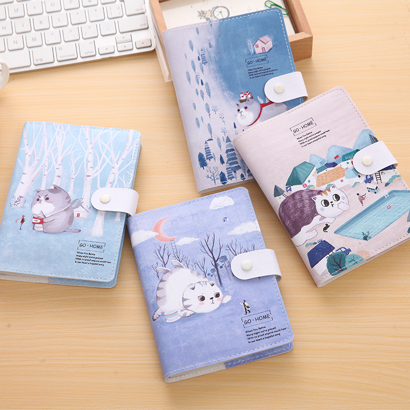 Fromthenon Cat Go Home Series Thick Notebook Kawaii Notepad Binder Dialy Memos Daily Planner Organizer Stationery School Supply