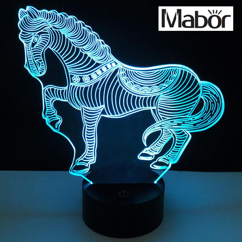 3D Plastic Lamp Bases 7 Color Changing Touch 10LED Night Light Light Holder цена