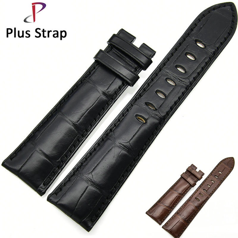 Black&Brown Watch Band Strap for CORUM Replacement Crocodile Skin Genuine Leather Bracelet Men&Women Wristband xoomz for iphone 7 crocodile genuine leather coated plating pc shell brown
