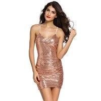 United States Station Nightclub Sling Sleeveless V Collar Sequin Irregular Sexy Package Hip Dress 22626