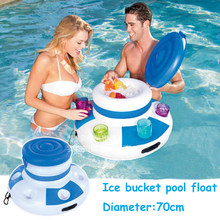 Inflatable Ice Bucket Inflatable Pool Float Pool Swimming Floating Pool Inflatable Toys Inflatable Drink Beer Holder Pool Table(China)