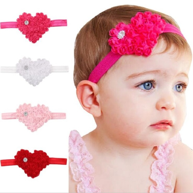 451b43beb3f Naturalwell Lovely Cute Little Girls Elastic Hairband Crytral Heart  Headband Headwear Kids Hair Band Accessories HB089D