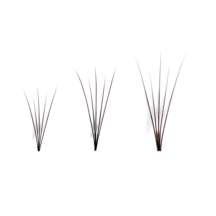Image 2 - 0.07 C Curl Faux Mink Eyelashes 5D Pre made Lashes Fans Natural Long Individual Eyelash Extensions-in False Eyelashes from Beauty & Health