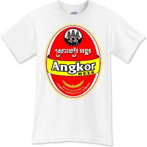 632702542 Hot Sale Fashion ANGKOR Beer T Shirt Brewery Ale Promo Black White TShirt  Tee Size S M L XL 2XL Print Casual T Shirt Men Brand-in T-Shirts from Men's  ...