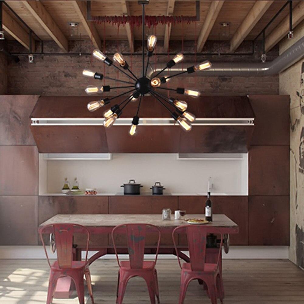 retro loft personality satellite pendant lights lustres de sala vintage pendant lamps restaurant. Black Bedroom Furniture Sets. Home Design Ideas