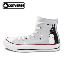My Neighbor Totoro Converse All Star Men Women Shoes Hand Painted Shoes Boys Girls High Top Sneakers Cosplay Gift Miyazaki Hayao