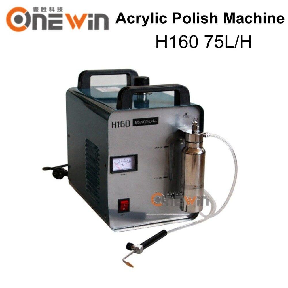 Rekabetçi fiyat Aliexpress H160 Oksijen Hidrojen Alev tabancası akrilik parlatma makinesi