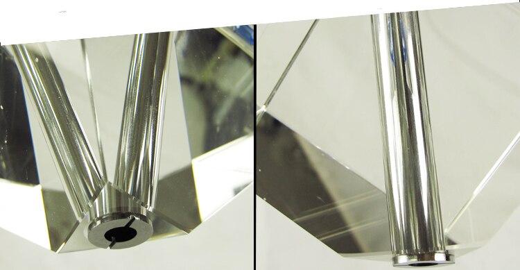 Müasir paslanmayan polad xrom tavan paneli, şəffaf brilyant K9 - Daxili işıqlandırma - Fotoqrafiya 6
