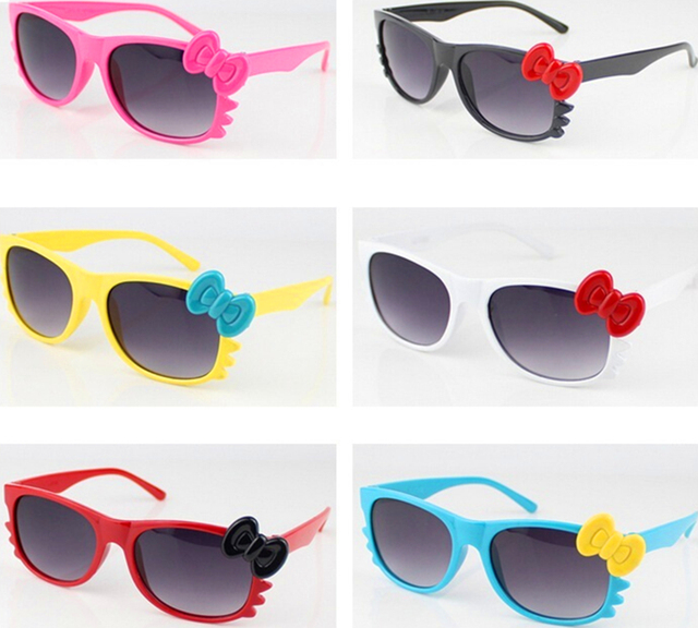 550ae805a high quality hello kitty sunglasses Fashion KT Girls sunglasses UV400  Pretty Hello Kitty cat sunglasses KT glasses with bowknot