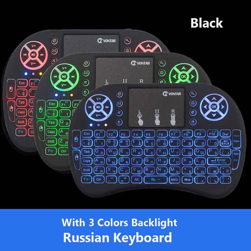 все цены на Normal and Backlight mini i8 Keyboard English Russian Spain Hebrew Version Backlit I8 Keyboard Air Mouse For Android TV BOX