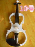 N10 High quality white color electric violin 4/4 violin handcraft violino Musical Instruments violin Brazil Wood bow