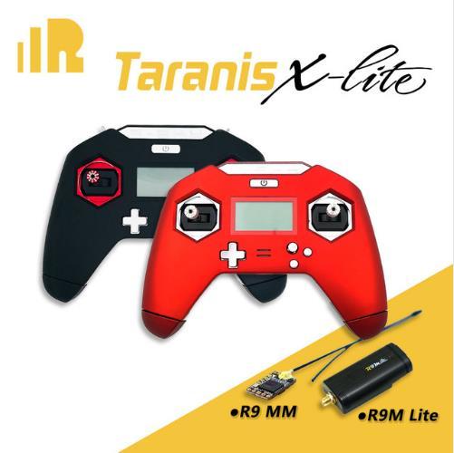 FrSky Taranis X-LITE 2.4 GHz ACCST 16CH télécommande émetteur RC W/R9 MM récepteur rouge noir pour les modèles de drones RC