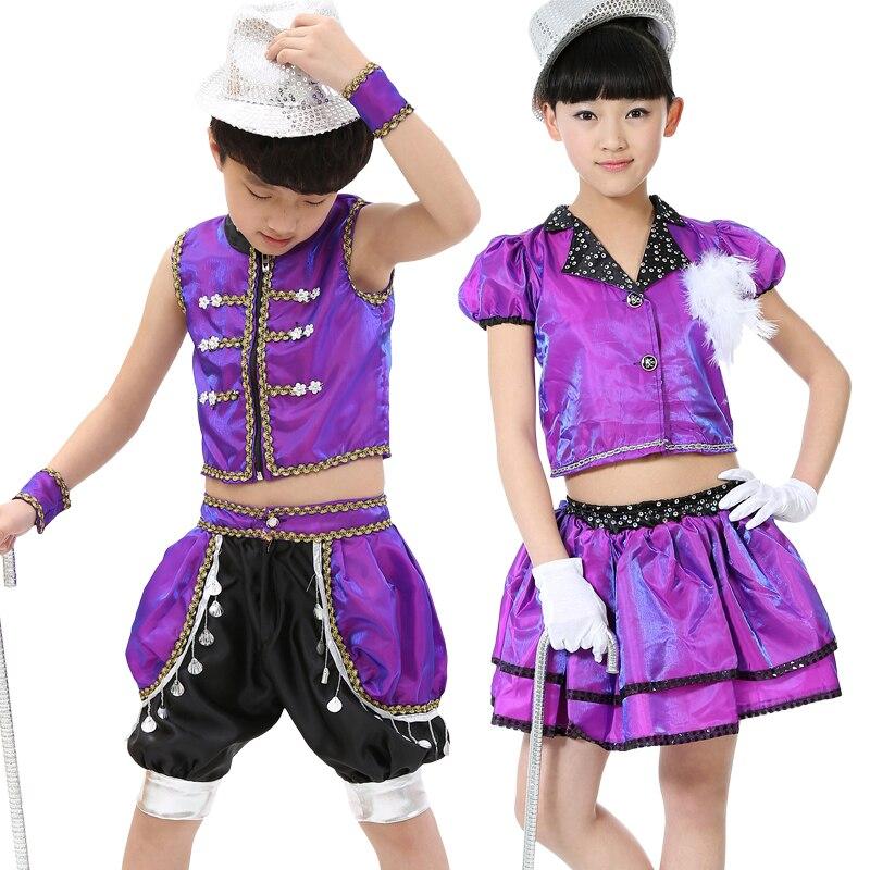 20 unids/lote envío libre Jazz Hip Hop Dance trajes para niños Niños ...