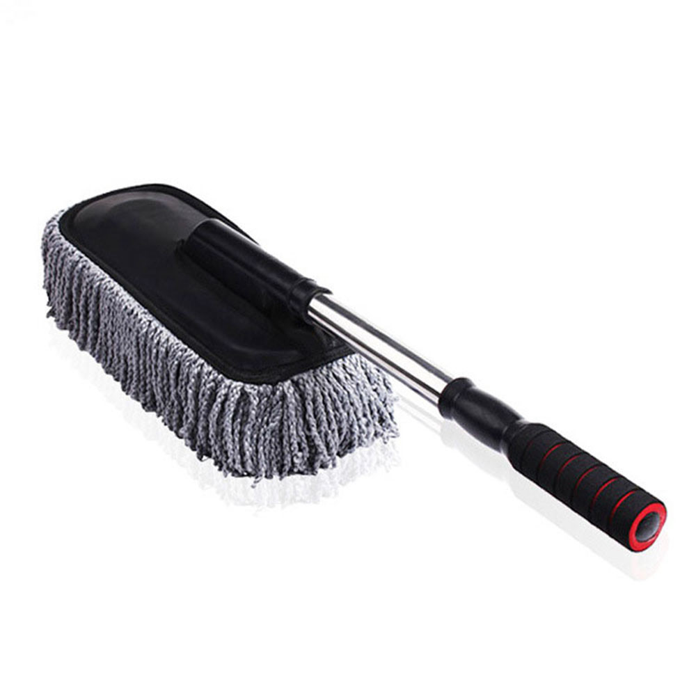 2018 New Multi-functional Flat Car Cleaning Wash Brush Large Microfiber Telescoping Duster Dusting Tool Car-Styling&Wholesale