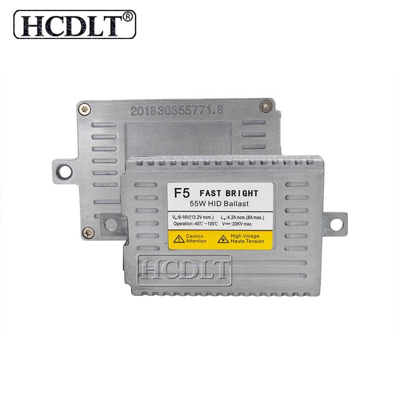 HCDLT AC 55W F5 Fast Bright DLT Xenon HID Ballast For Car Light Bulb H1 H3