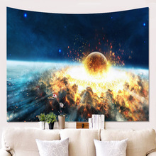 style hot home furnishing 3D space wallcovering hanging cloth background cloth picture tapestry wall decoration blanket. m style кресло home space sand