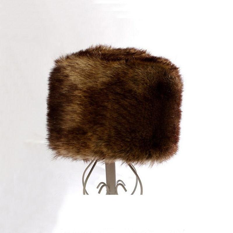 Nouveau Femme Crème Fausse Fourrure Fashion Hiver Cosaque Chapeau Genève