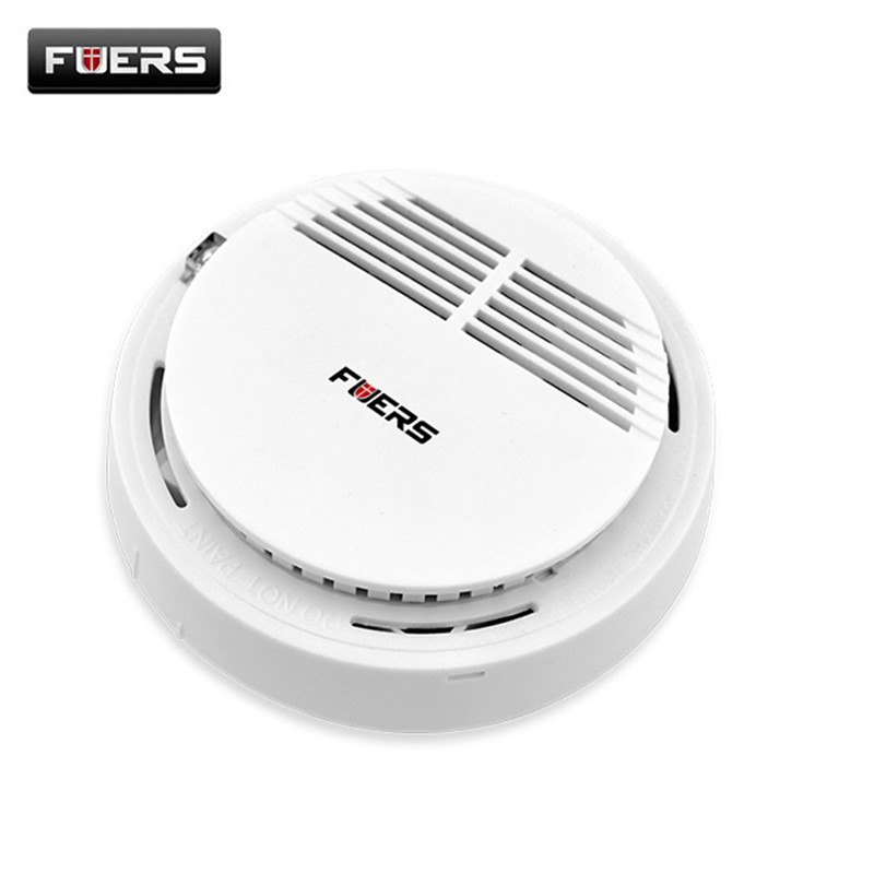 Fuers Wireless Smoke/fire Detector for Wireless GSM/PSTN Burglar Auto Dial Alarm System, Security Home Alarms 433Mhz wireless smoke fire detector smoke alarm for touch keypad panel wifi gsm home security system without battery