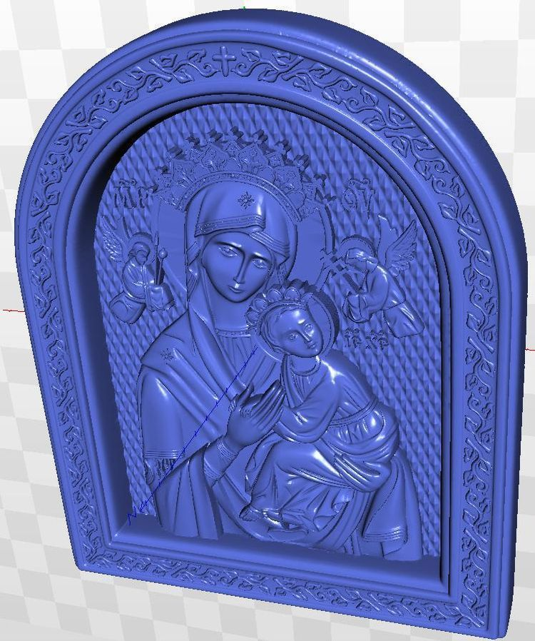 relief Icona_B_Materi_NE_USTANNAYa_POMOSch for cnc in STL  file format 3d martyrs faith hope and love and their mother sophia 3d model relief figure stl format religion for cnc in stl file format